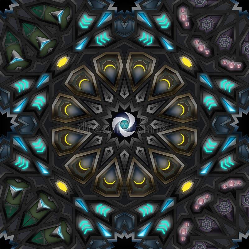 Pattern2 géométrique arabe image stock