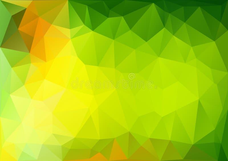 Pattern01 géométrique vert illustration stock