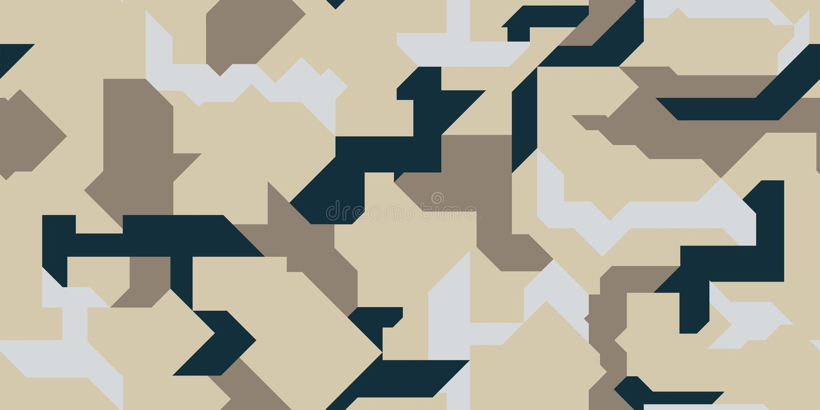 Pattern of Geometric Shapes for Army Clothing, weapon or vechicles. stock images