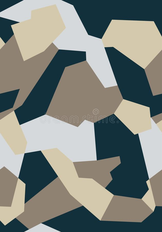 Pattern of Geometric Shapes for Army Clothing, weapon or vechicles. royalty free stock images