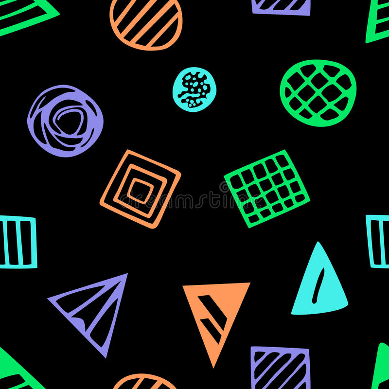 Pattern with geometric shapes eps 10 royalty free illustration