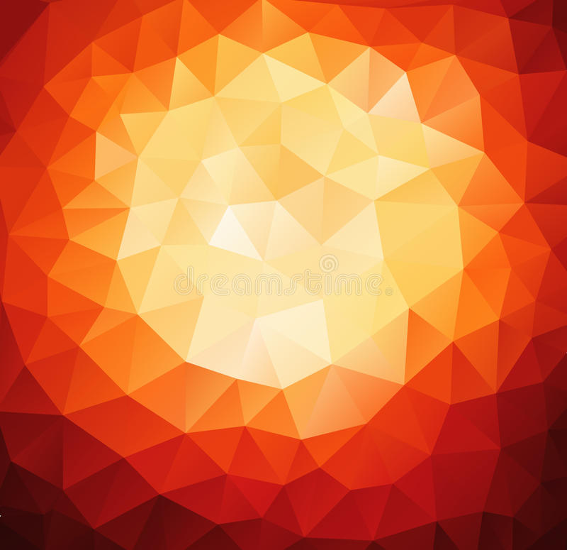 Pattern of geometric shapes. Red background with triangles. stock illustration