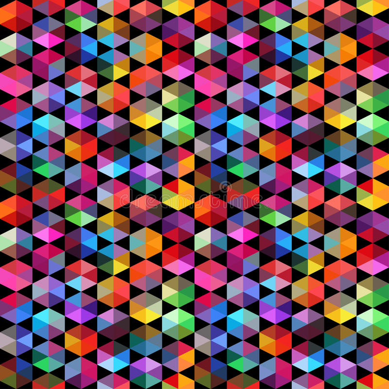 Pattern of geometric shapes. Triangles.Geometric background. Copy that square to the side, the resulting image can be repeated, or tiled, without visible seams stock illustration