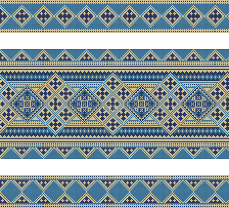 pattern of geometrical figures. Ukrainian folk stock illustration
