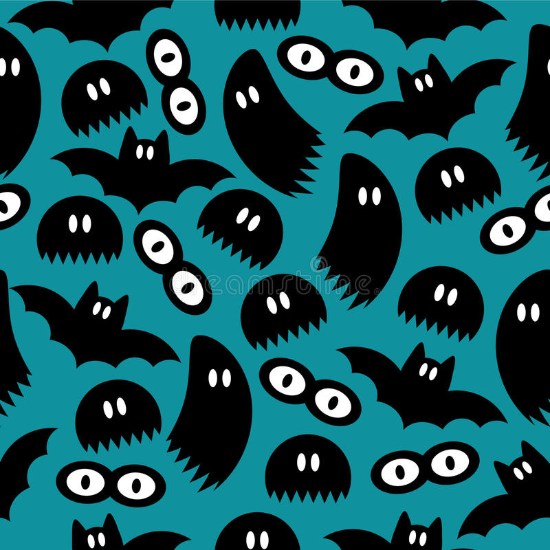 Download Pattern With Ghosts And Bats Stock Vector - Image: 28537706