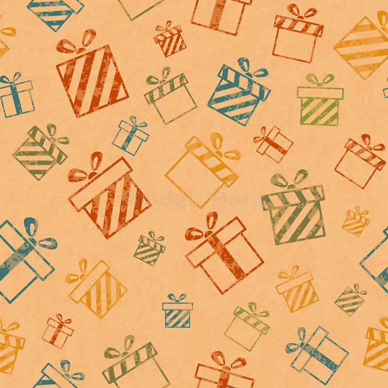 Pattern with gift boxes vector illustration