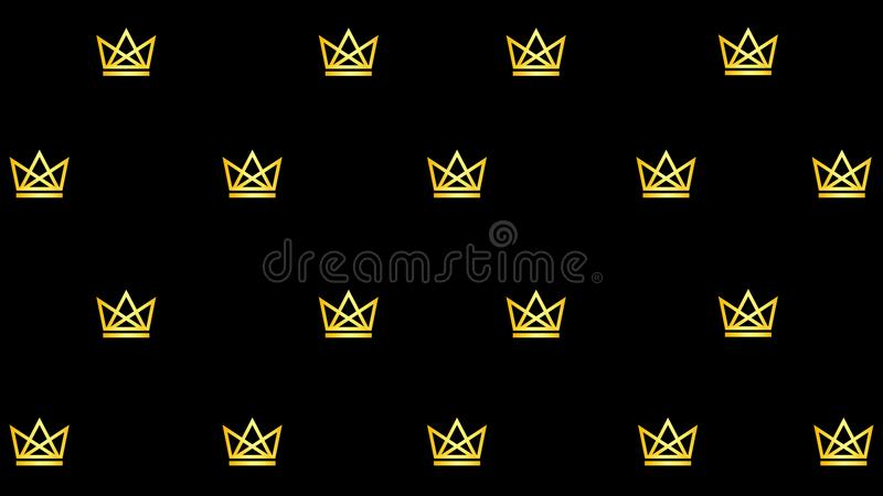 Pattern with golden crowns royalty free illustration