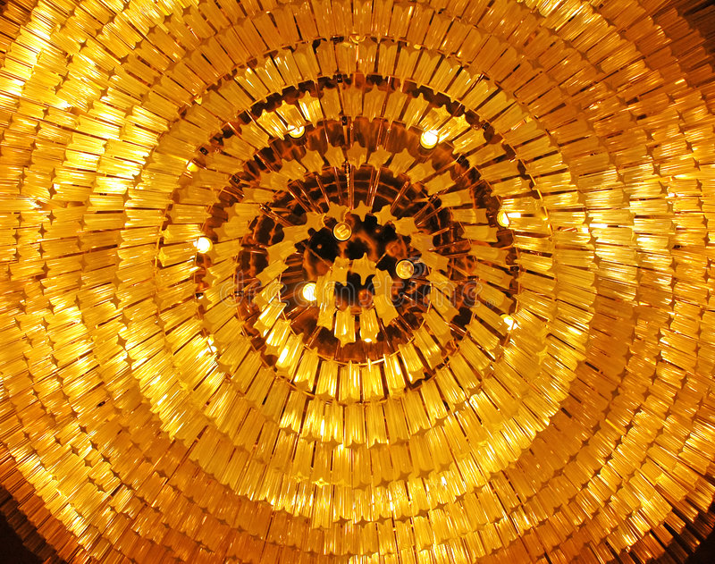 Pattern of grand chandelier royalty free stock photography