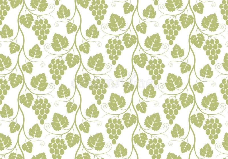 Pattern. Grape stock illustration