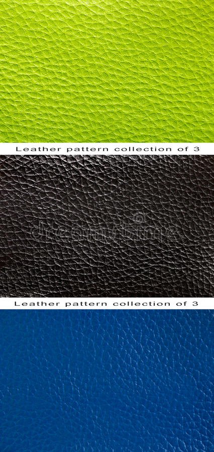 Pattern green, blue and black leather royalty free stock photos