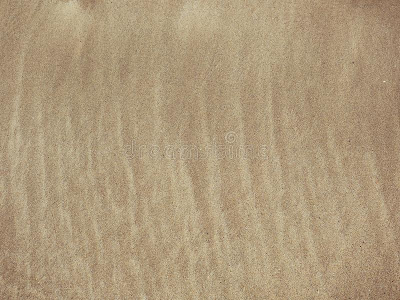 Pattern of grooves on sandy beach royalty free stock images
