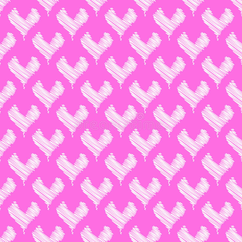Pattern with hearts stock images