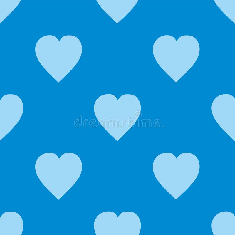 Pattern with hearts. Flat Scandinavian style for print on fabric, gift wrap, web backgrounds, scrap booking, patchwork. Vector illustration Seamless background stock illustration