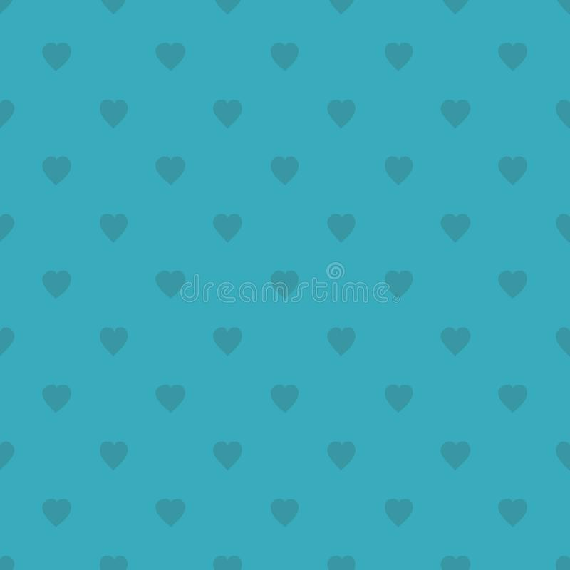 Pattern with hearts for print on fabric, gift wrap, web backgrounds, scrap booking, patchwork. Vector illustration Seamless background stock illustration