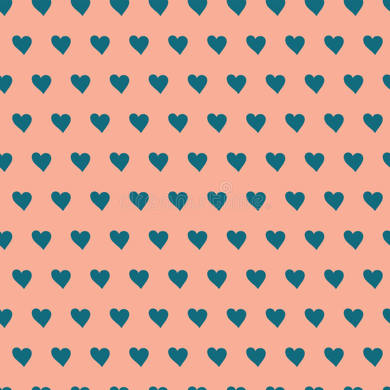 Pattern with hearts stock illustration
