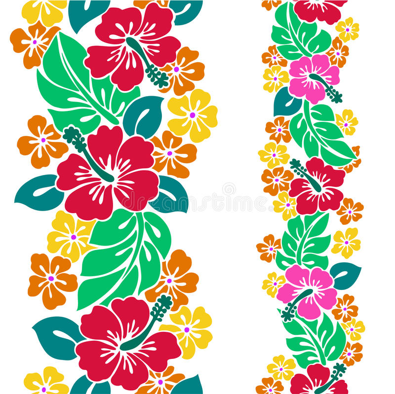 Pattern of the Hibiscus stock illustration