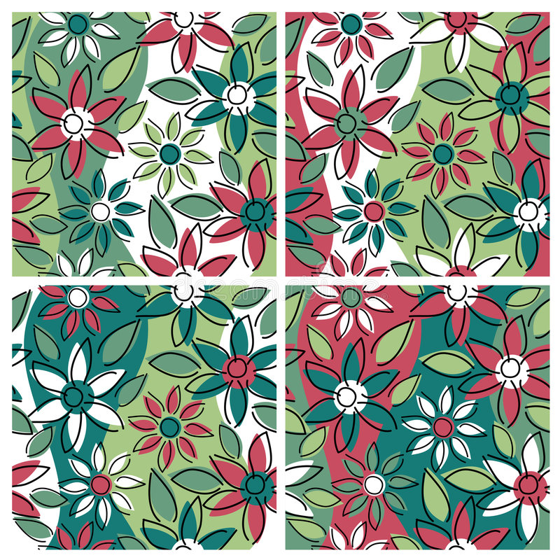 Pattern_Holiday floral ilustração royalty free
