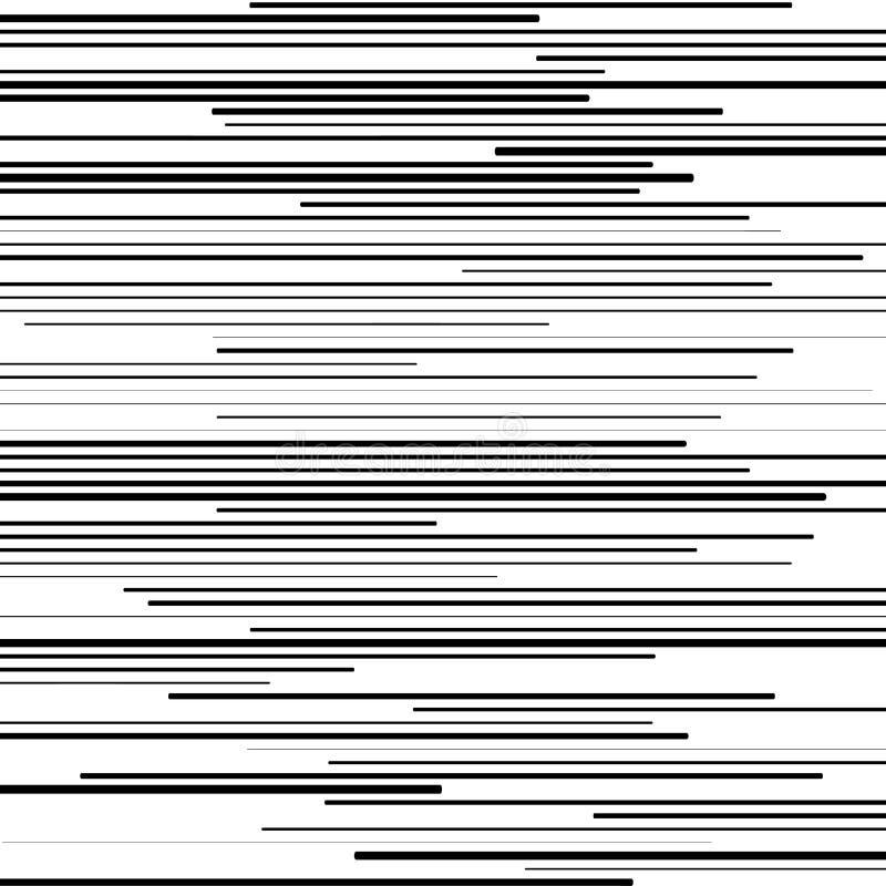 Pattern with horizontal black lines stock illustration
