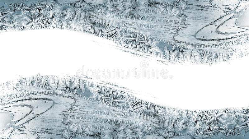 Pattern from ice crystals on a windowpane royalty free stock images