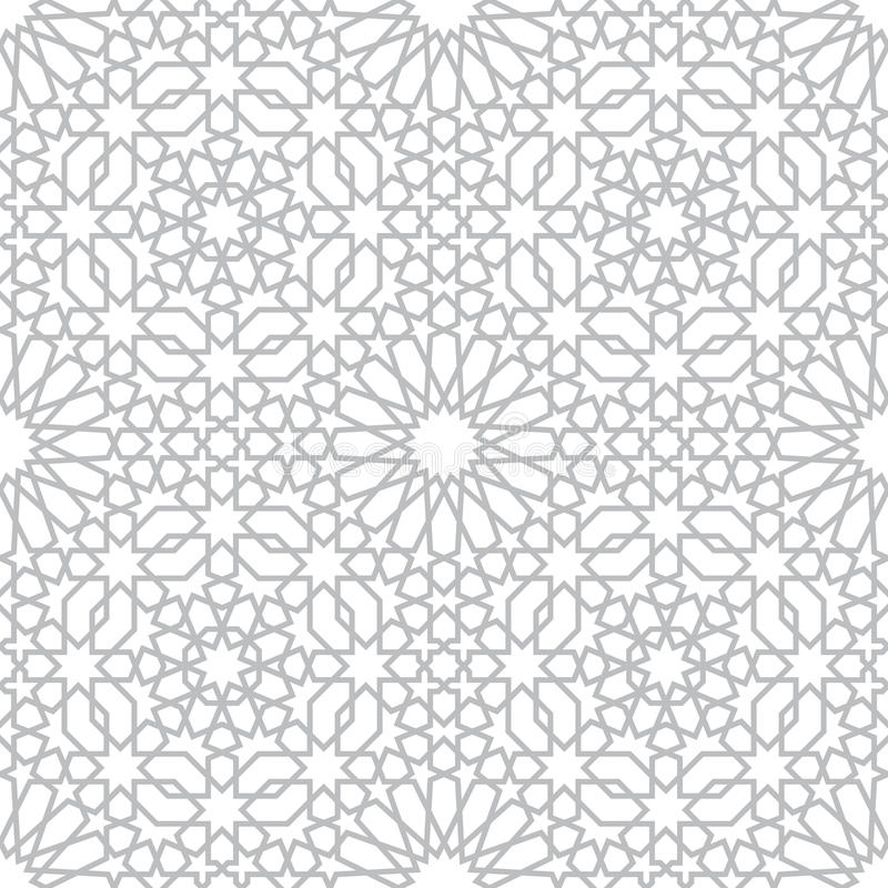 Pattern in islamic style royalty free illustration