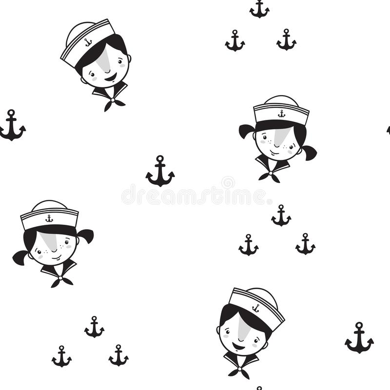 Pattern for kids, girls and boys. Vector illustration. It can be used to create prints, packaging, invitations, simple designs, gi royalty free stock images