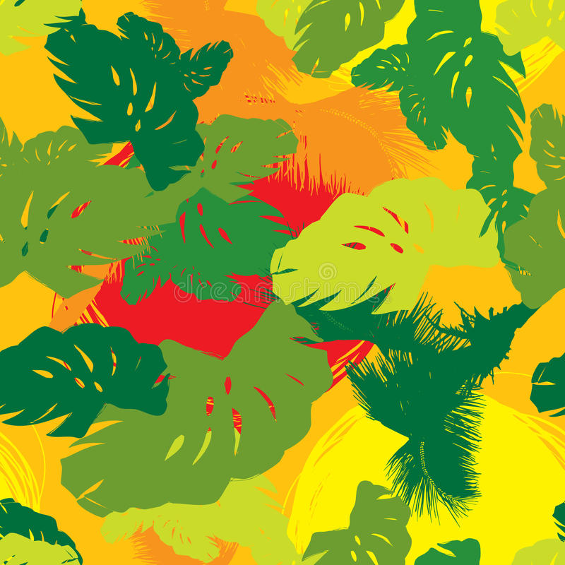 Download Pattern From The Leaves Of Tropical Trees Stock Vector - Illustration of drawing, copy: 23822359