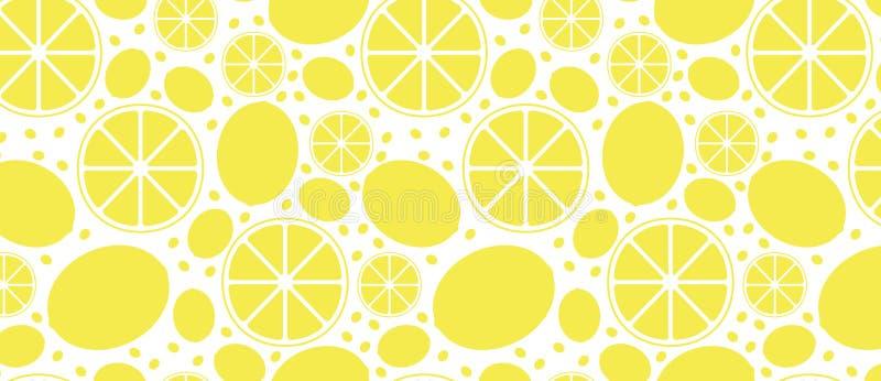PATTERN with lemons. Juicy yellow royalty free illustration