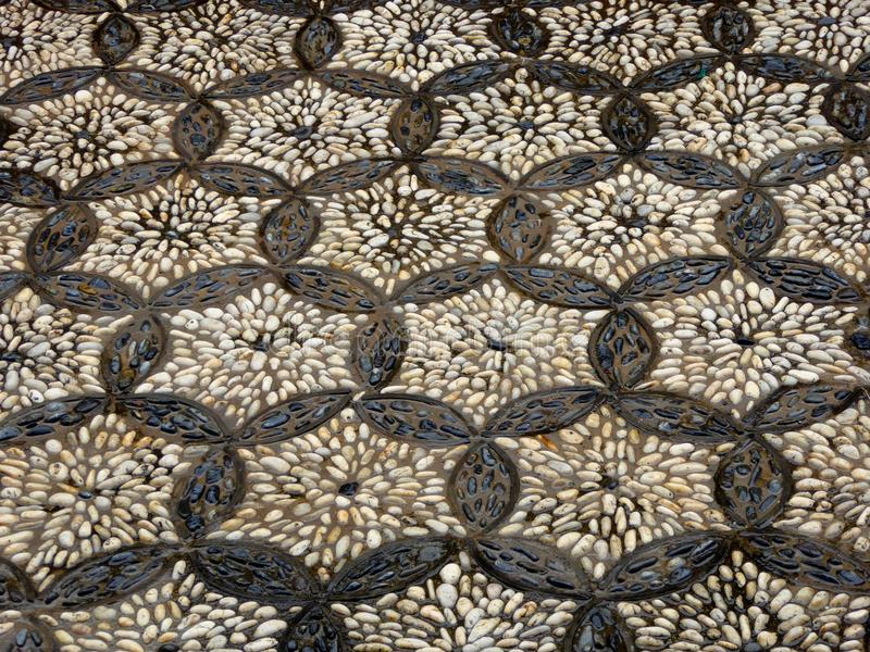 A pattern made up with pebbles stock photos