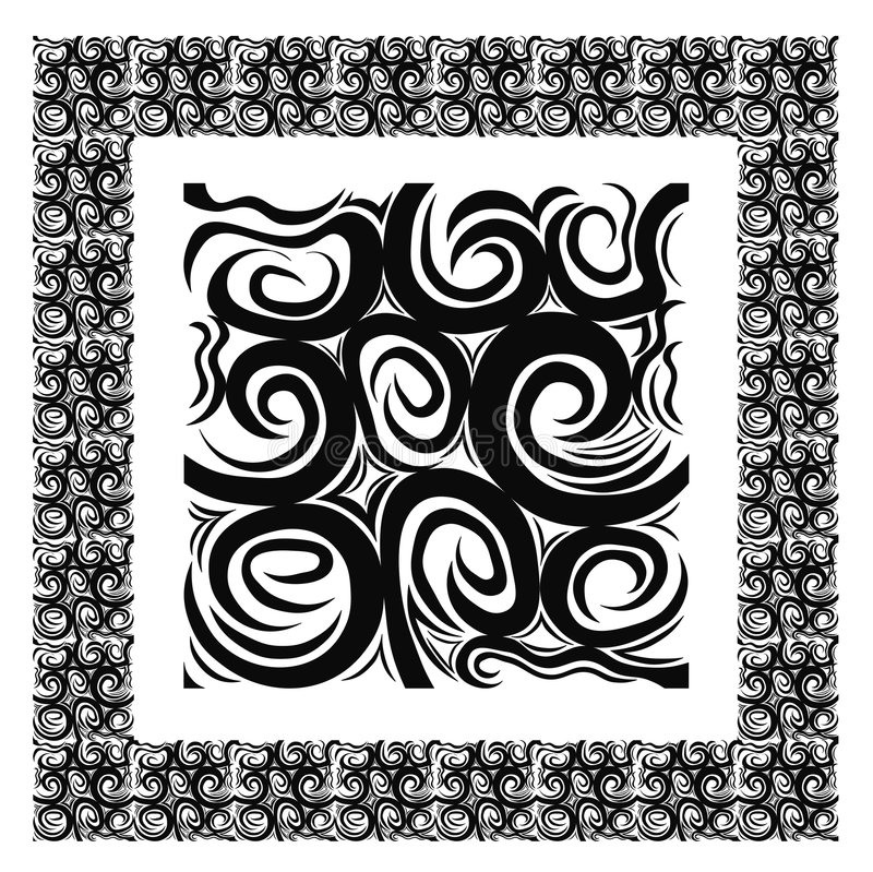Pattern that matches from all edges, plus border vector illustration