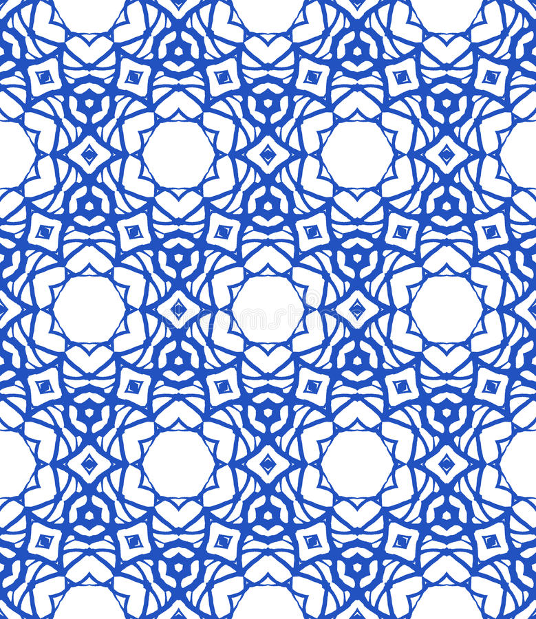 Pattern with Mediterranean & Moroccan motifs stock illustration