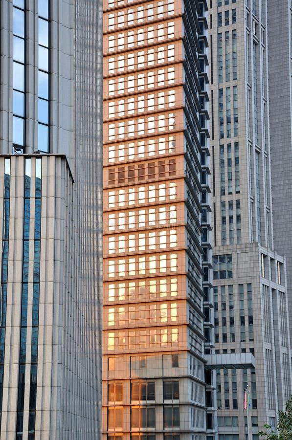 Pattern Of Metropolis Buildings Royalty Free Stock Images