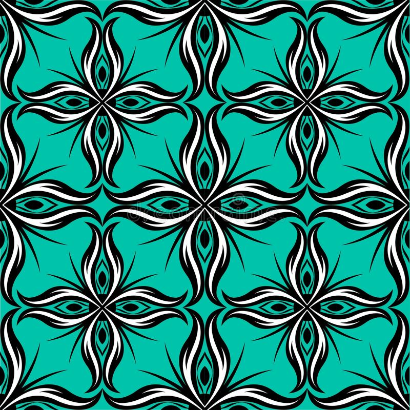 Blue tassel pattern royalty free illustration