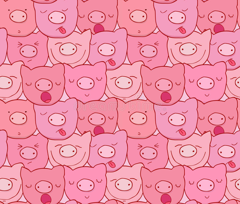 The pattern of the muzzles of piglets stock photography
