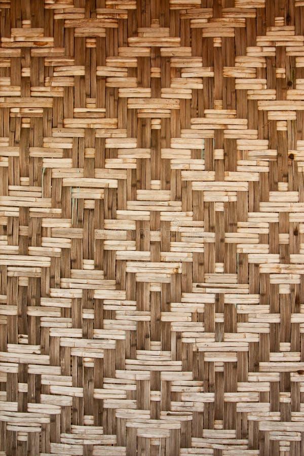 Pattern Native Thai Style Bamboo Wall Royalty Free Stock Image