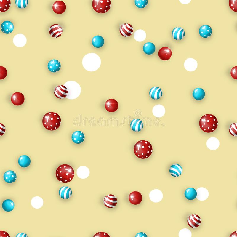 Pattern with New Year`s Christmas texture. Raster. stock images