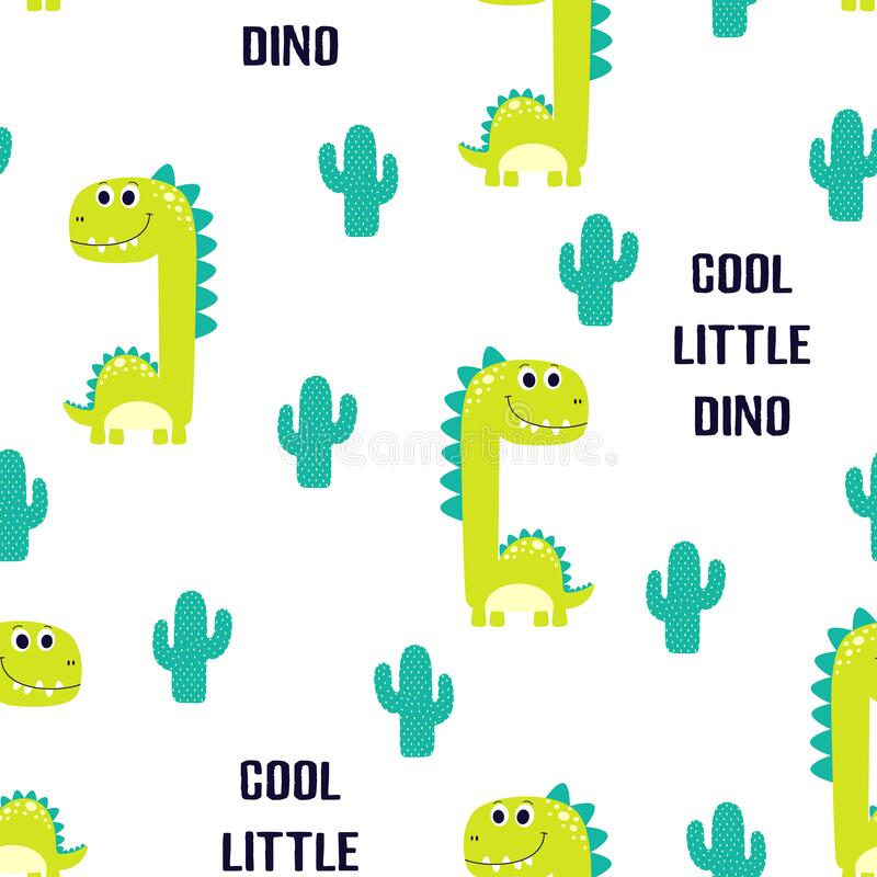 Free Pattern Of Cute Dinosaur Isolated Royalty Free Stock Images - 172276759