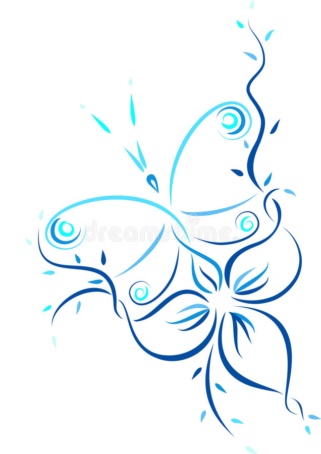 Free Pattern Of The Butterfly And The Flower Stock Photos - 3920463