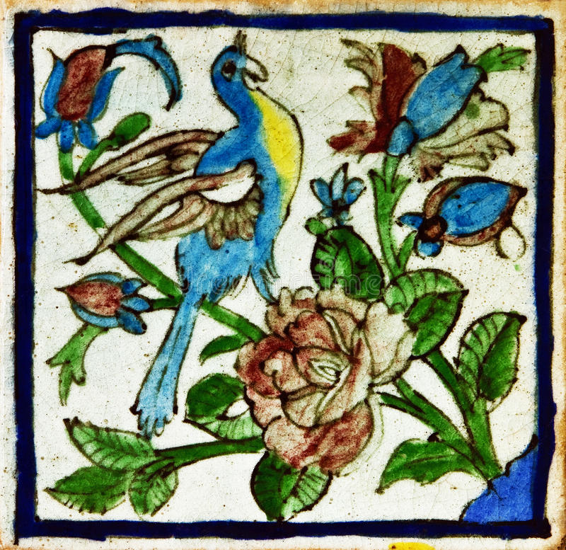 Free Pattern Of Vintage Persian Ceramic Tile Royalty Free Stock Image - 27765586