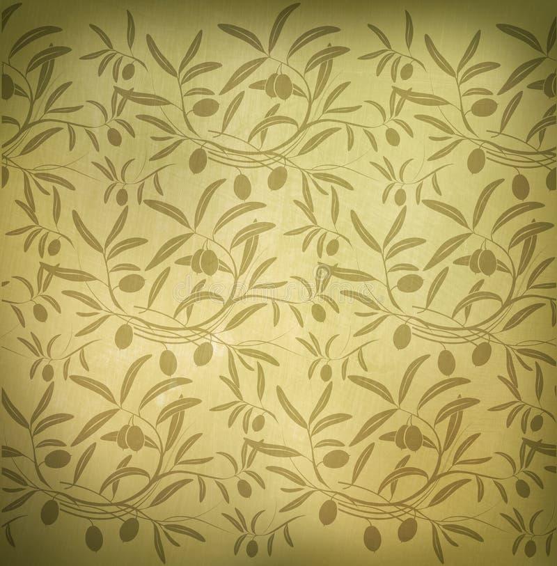 Pattern olive branch royalty free illustration