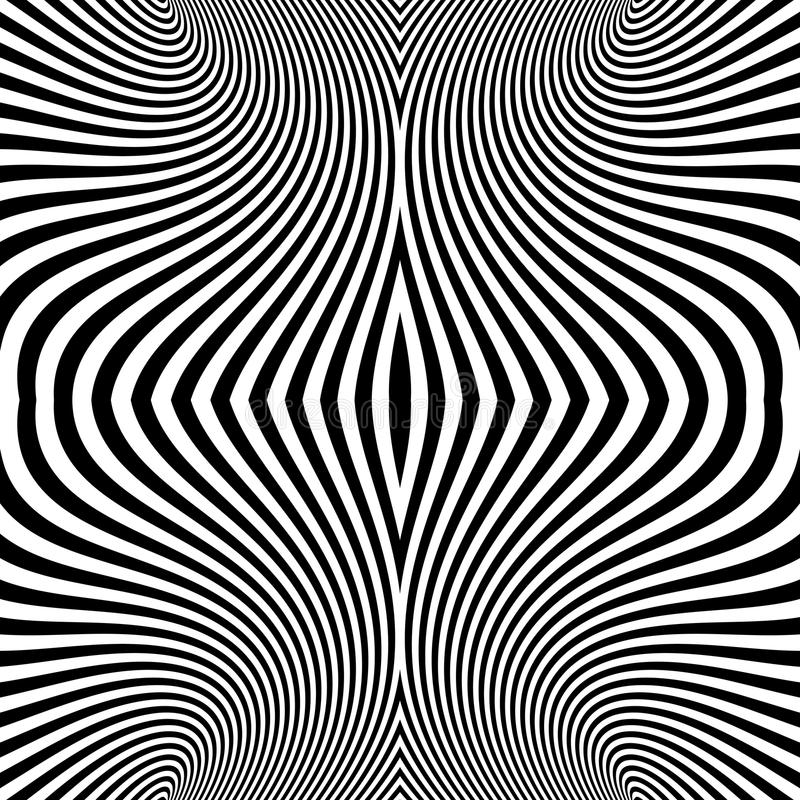 Pattern With Optical Illusion. Abstract Background. Optical Art. stock illustration