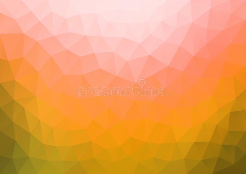 Orange pink Gradient Pattern geometric stock illustration