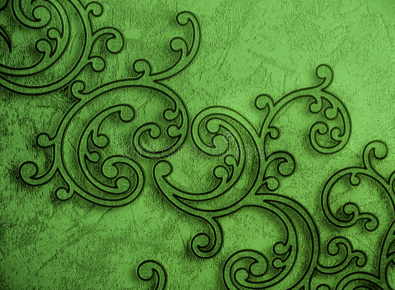 Pattern Ornamental Green Wallpaper royalty free stock photo