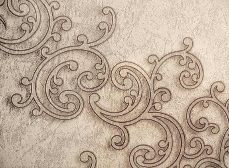 Pattern Ornamental Wallpaper. Pattern of vintage ornamental interior wallpaper stock photography