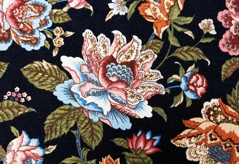 Pattern of an ornate colorful floral tapestry royalty free stock images