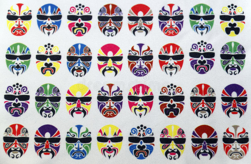 Download Pattern of painted faces. stock illustration. Illustration of dark - 13698945