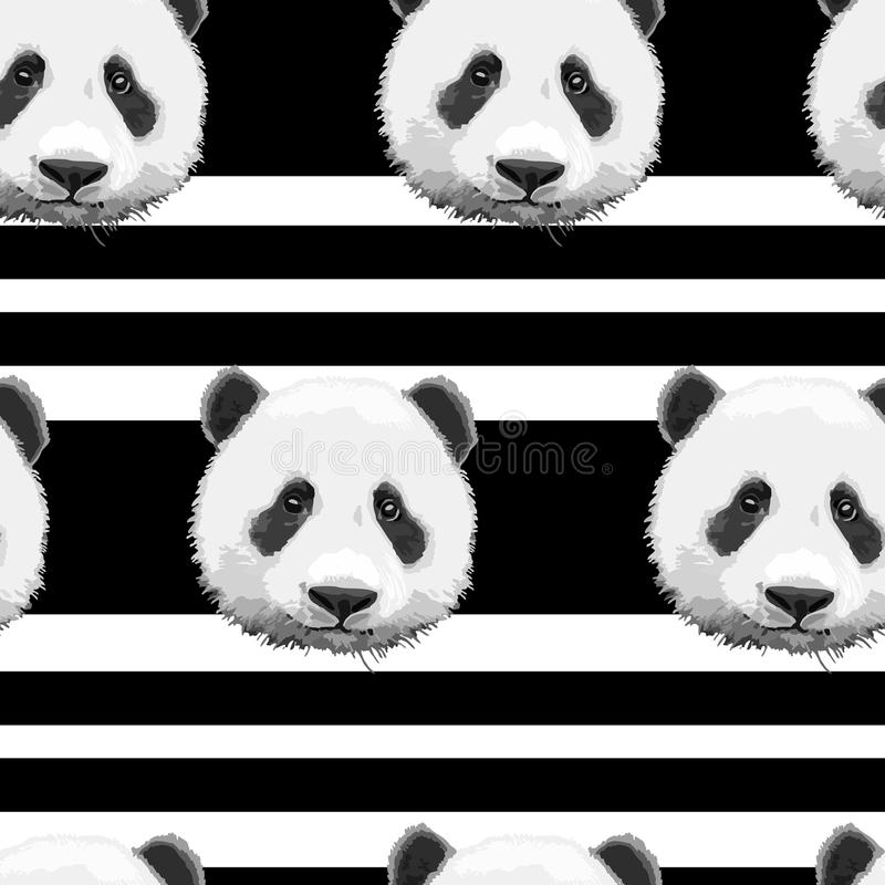 Pattern of the panda vector illustration