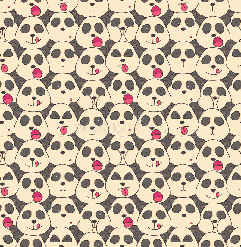 Pattern from pandas muzzles royalty free stock image