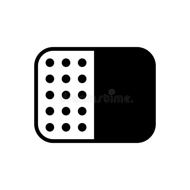 Black solid icon for Pattern, fill and background. Black solid icon for Pattern, miscellaneous, transparent,  fill and background vector illustration