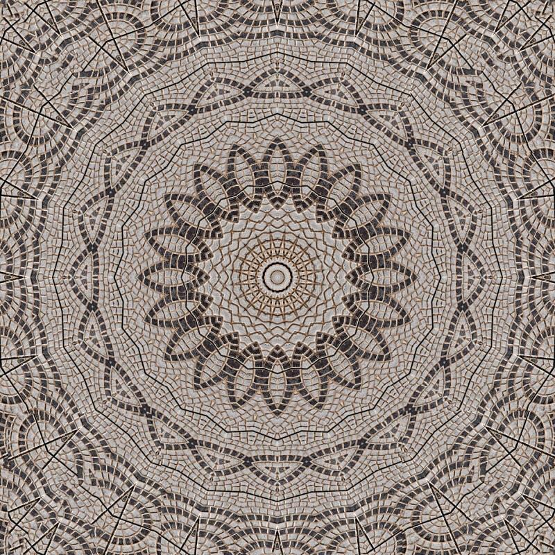 Pattern of paving stones. Digital art design. Abstract pavement texture with cobblestones stock illustration