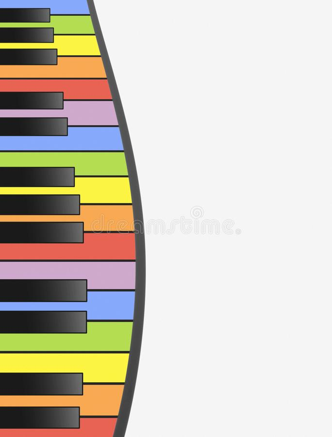 A Pattern Of Piano Keys In Colorful And Playful Rainbow Hues Vertical Format With White Copy Space Creates An Entertainment Music Inspired Background